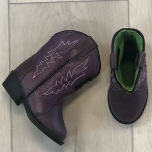 Purple John Deere Cowboy Boots